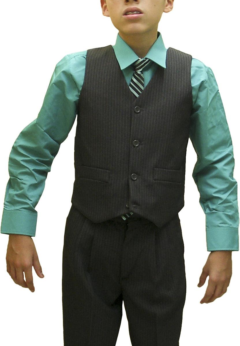 68189c01d traje formal para niños marca norman gris oxford con rayas. Cargando zoom.
