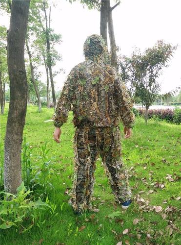 traje ghillie 3d camuflaje sniper-francotirador caza airsoft