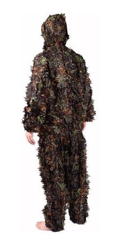traje ghillie camuflaje 3d bosque cacería l / xl de 2 piezas