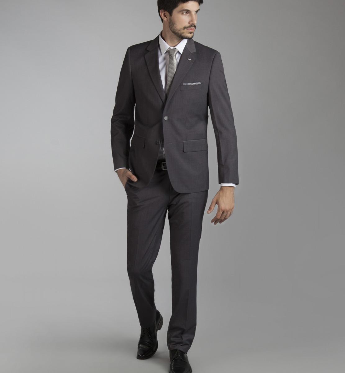 94f86f3e18078 traje gris devre slim fit 1 solo uso talle 48. Cargando zoom.