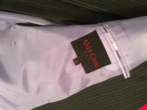 traje gris oxford líneas moradas 42r nuevo aldo conti
