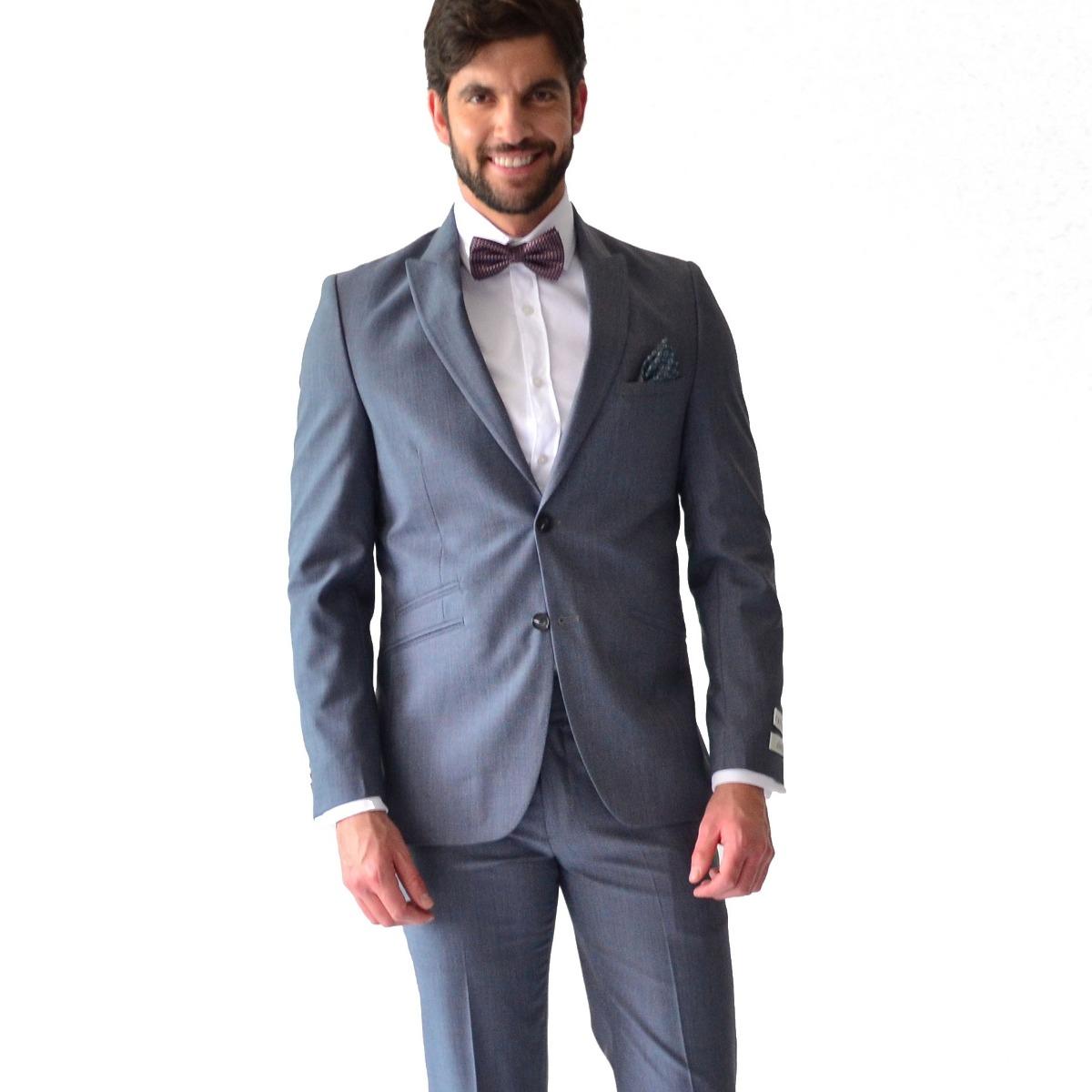 bb745cfcaa8eb traje hombre corte slim fit color gris. Cargando zoom.