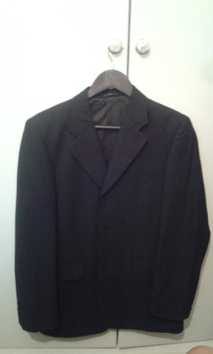traje hombre m 42 negro saco y pantalon boda fiesta - 1 uso