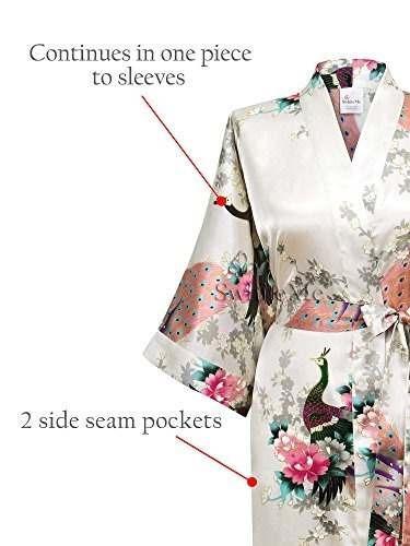 traje kimono para mujer swhiteme, corto, talla ánica, pavo r