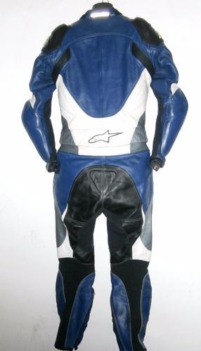 traje mono de dos piezas alpinestars full proteccion moto
