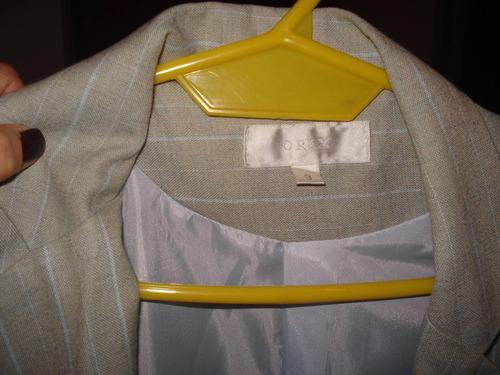traje mujer saco y pantalon en impecable estado - marca orix