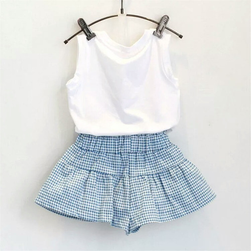 traje muñeca conjunto niña casual fresco short falda blusa