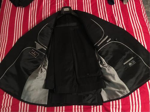 traje negro, nuevo, italia etiqueta vermonti 42r aldo conti
