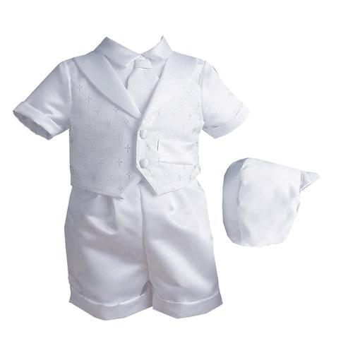 traje niño bebé infantil bautizo blanco ropa 0 a 3 meses