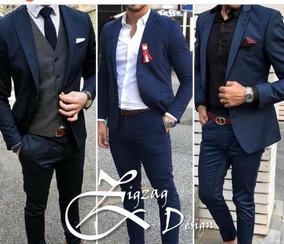 c905432e100a Traje Paño Vestido Para Grados Slim Fit Linea Europea