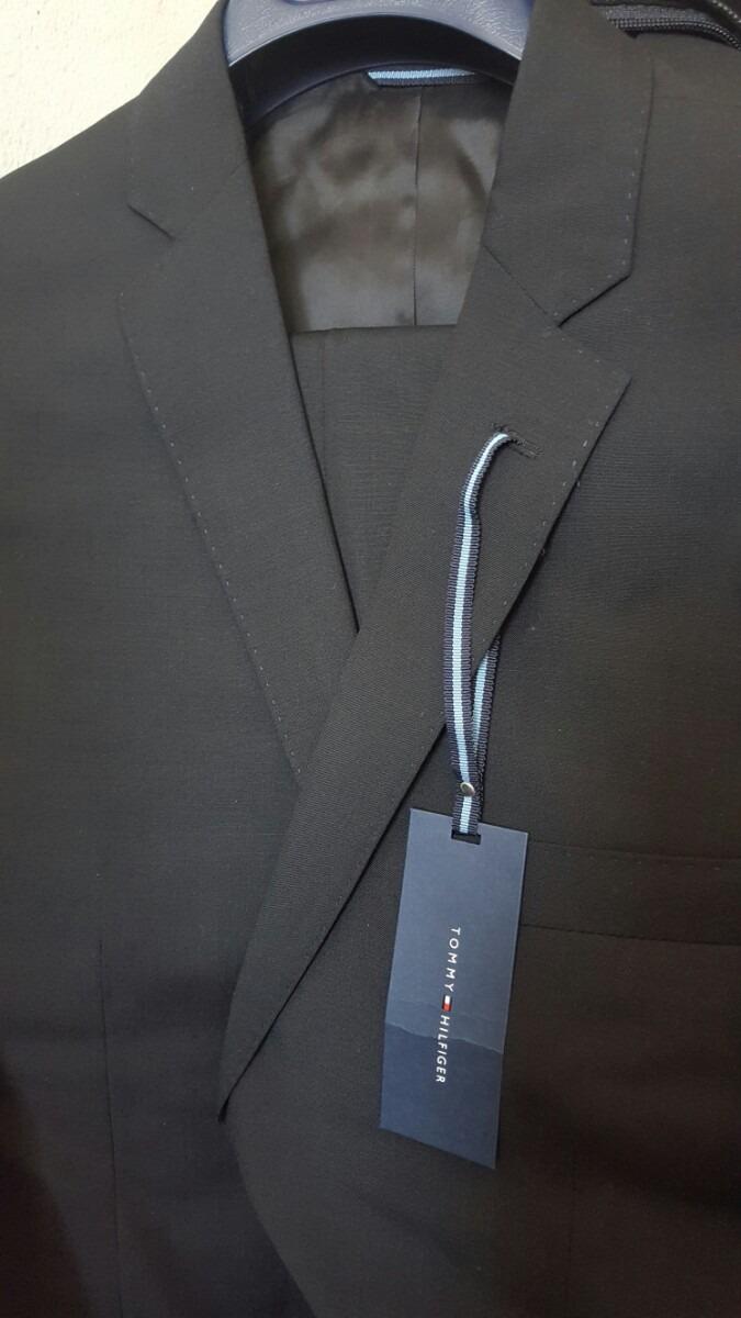 traje para caballero tommy hilfiger negro talla 40s. Cargando zoom. 59dd13d4037c