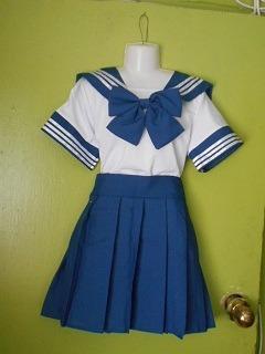 traje para cosplay azul (estudiante)