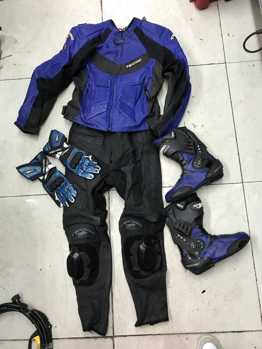 8668cde69e3 traje para moto con botas y guantes teknic como nuevo 2 pza. Cargando zoom.