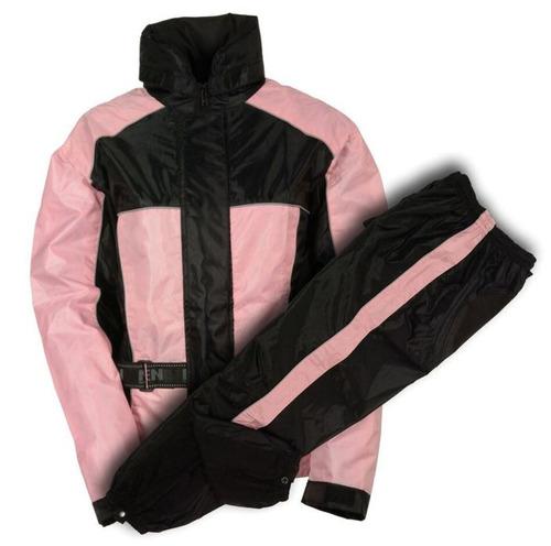 traje p/lluvia milwaukee p/mujer cuero impermeable rosa xl