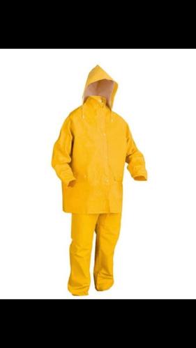 traje pvc 3 piezas, lavable, reusable, color amarillo xl,l,m