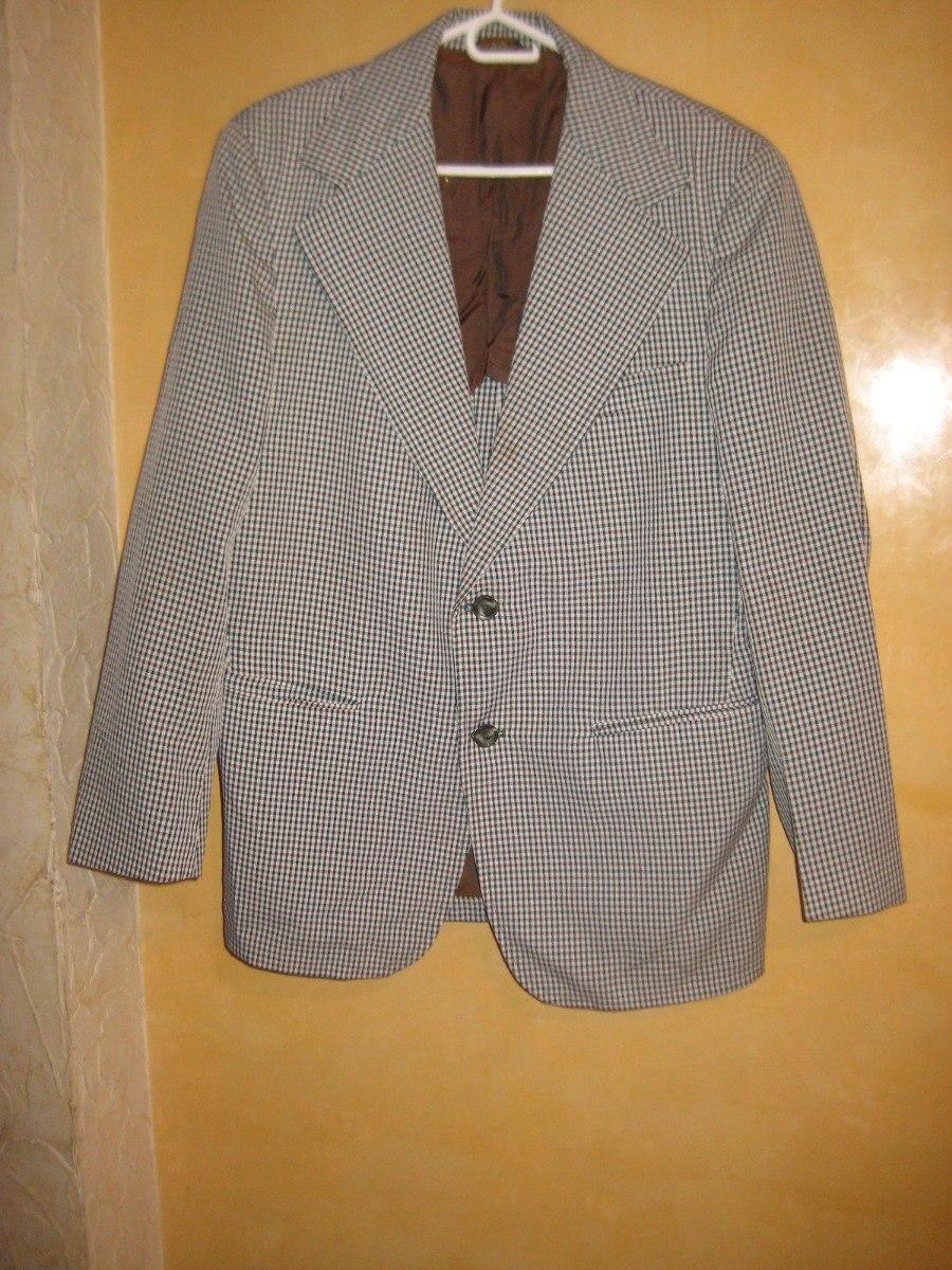 6596d5c26 traje saco palto jcpenney de caballero tela lisa talla xl. Cargando zoom.