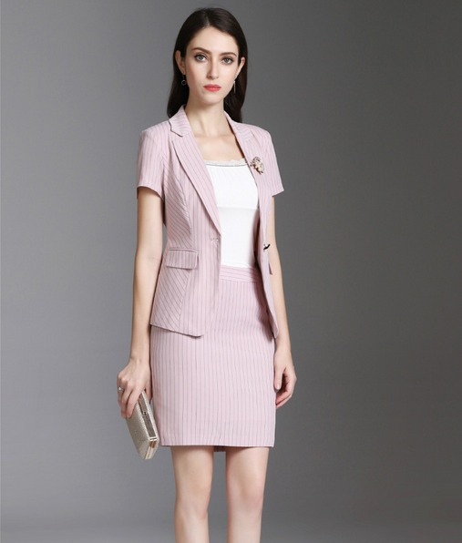 Traje Sastre Mujer Blazer + Falda Elegante Escote V Juvenil - U S ... 87120c5c42d