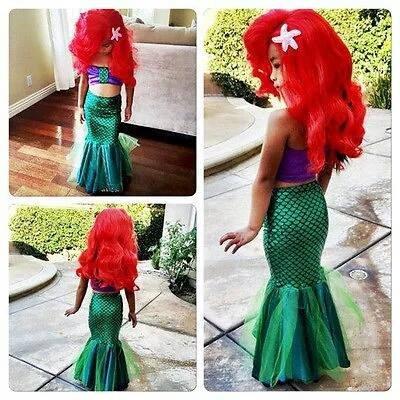 traje sirena ariel para niña sirenita vestido fiesta