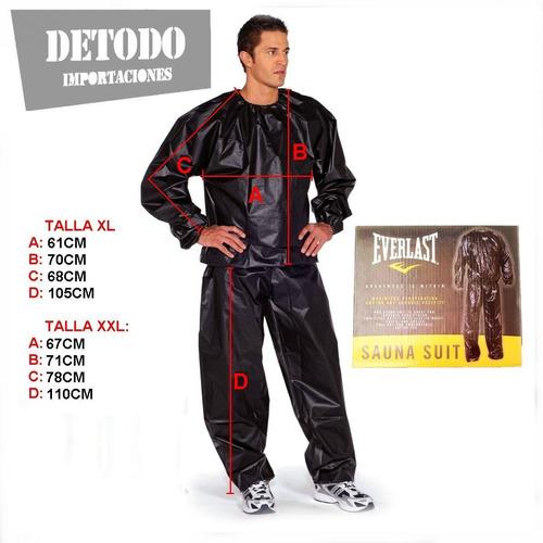 traje sudadera sauna everlast entrenamiento mma, box, gym