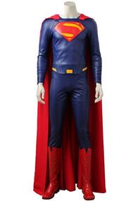 574acd449f Traje Superman Justice League Man Of Steel Cosplay Disfraz