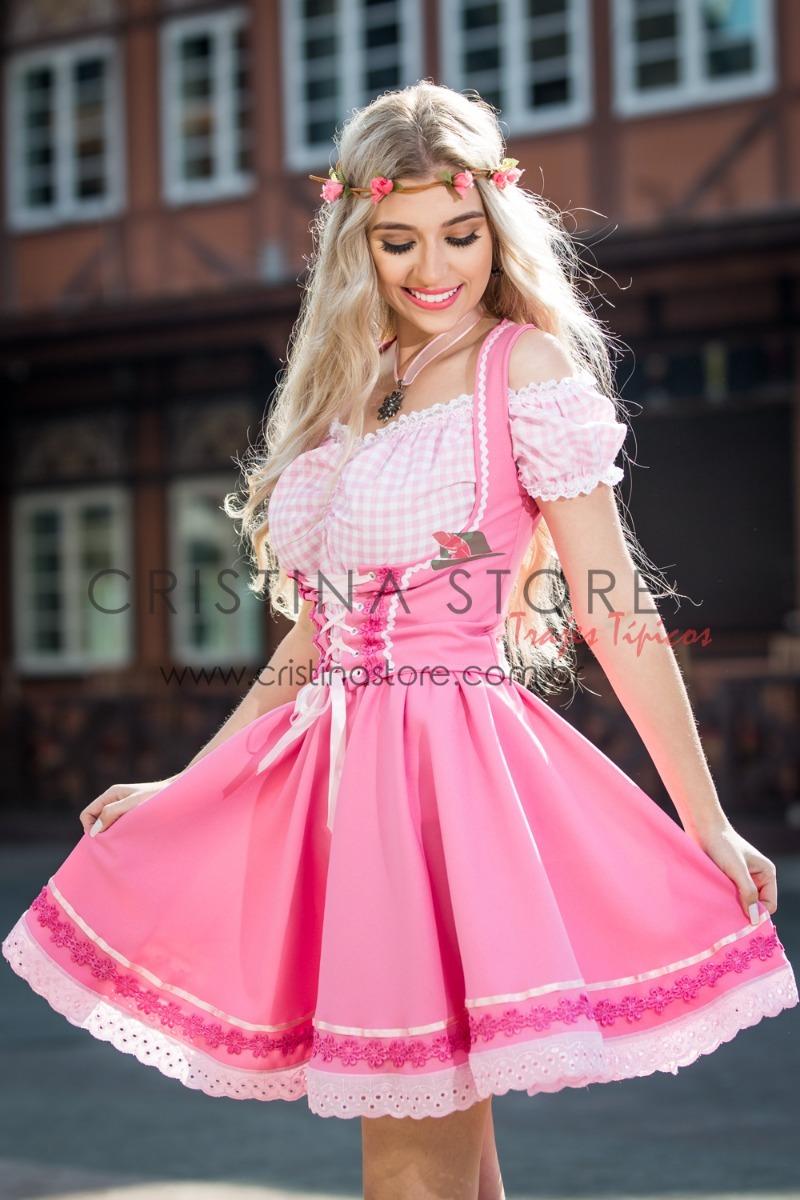 034a279884823 traje típico alemão oktoberfest rosa. Carregando zoom.