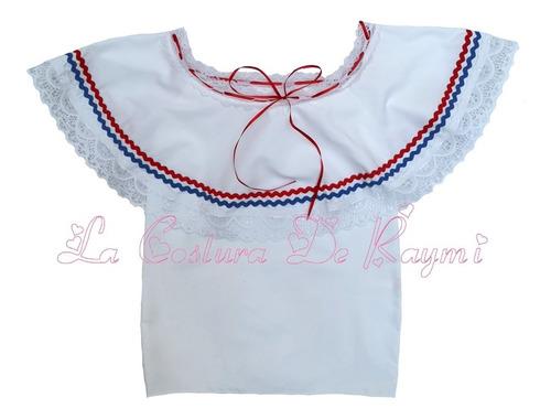 traje típico, blusa y enaguas, la costura de raymi
