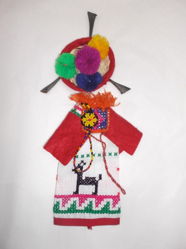 traje típico huichol miniatura pareja para salsa cuadrillé