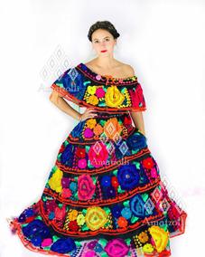 3ab7f2eb08 Traje Típico Mexicano Doble Vuelo Bordado 100% A Mano