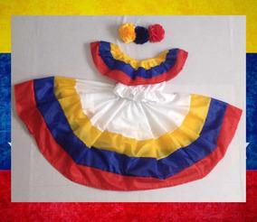Traje Típico Venezuela Tricolor Niñas