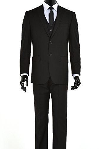 Traje Tres Piezas Dos Botones Negro Elegante Hombres -   200.000 ... 3b48fced6d72