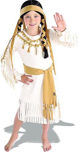 traje valor rubie traje indio princesa del niño, un color, m