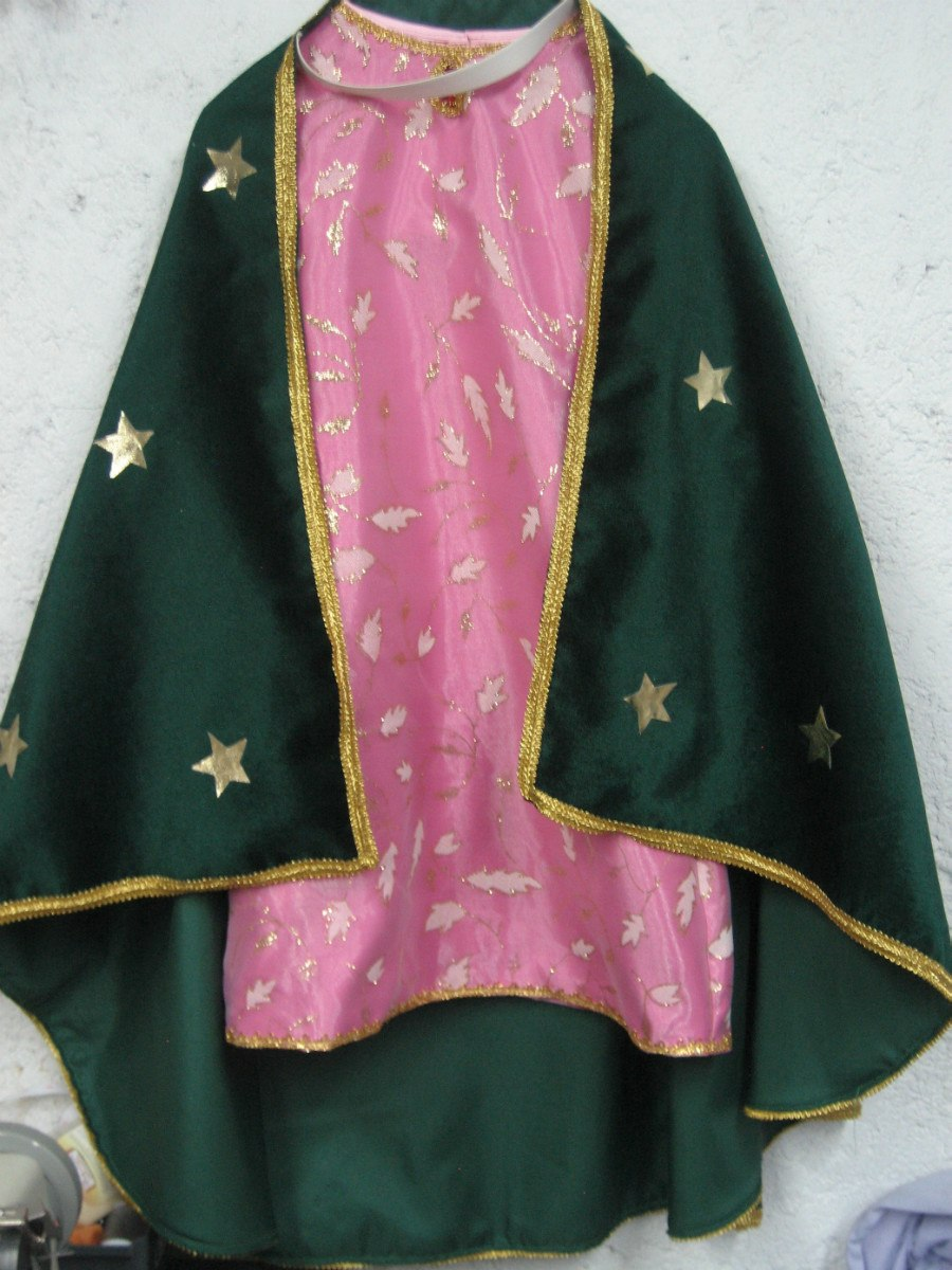 Traje Vestido Disfraz Virgen De Guadalupe Tunica Vestuario