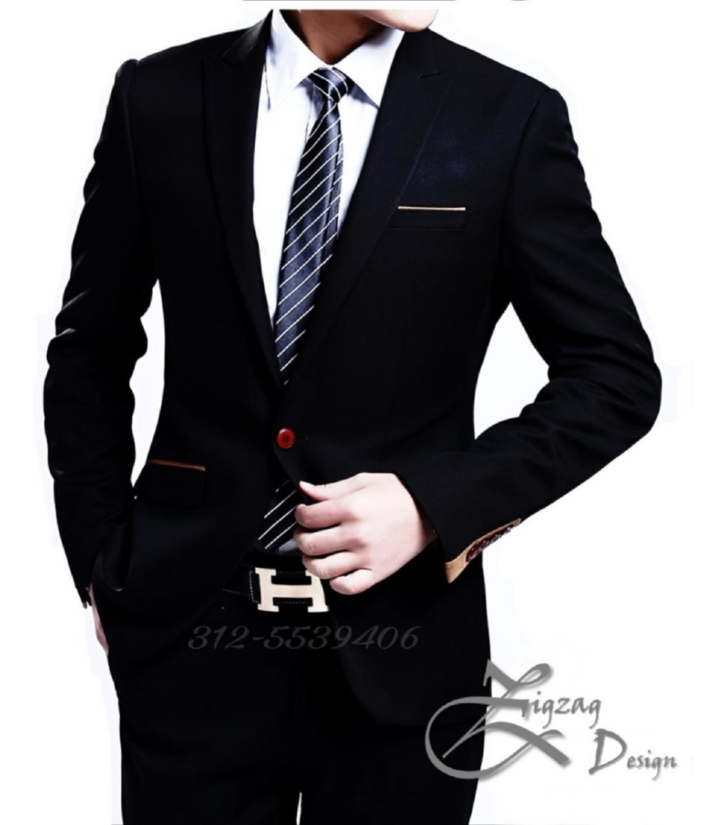 Traje Economica Formal Fit Paño Linea Slim Elegantre Vestido WEDIH92