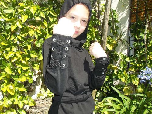 traje/disfraz de ninja para niños talle 10, 12, 14 blanco