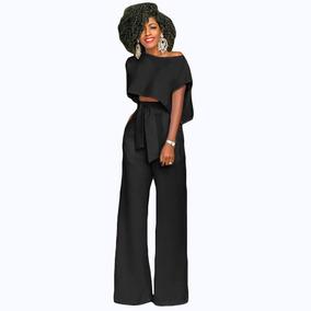9dfd220991 Las Mujeres De Moda Recortada Superior Pantalones Anchos De