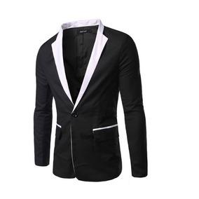 3456516ef7b12 Saco Blazer Hombre Slim Fit Casual Solapa Color Moda Juvenil