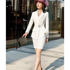 e101cf88213 Trajes Mujer Moda Ejecutiva Blazer + Falda Silueta Sensual