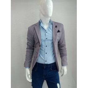 637277e9e9b47 Blazer Gris Hombre - Trajes para Hombre en Mercado Libre México