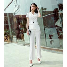 724c848ebc2b2 Trajes Para Mujer Blazer + Pantalón Campana Elegante Sexy