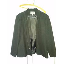 Traje Chaqueta-pantalon Negro Cuello Mao Talle Grande 54