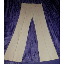 Pantalón De Vestir- Oxford Verde Oliva Elastizado-talle L