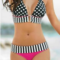 Bikini Con Push Up Lunares Talla M