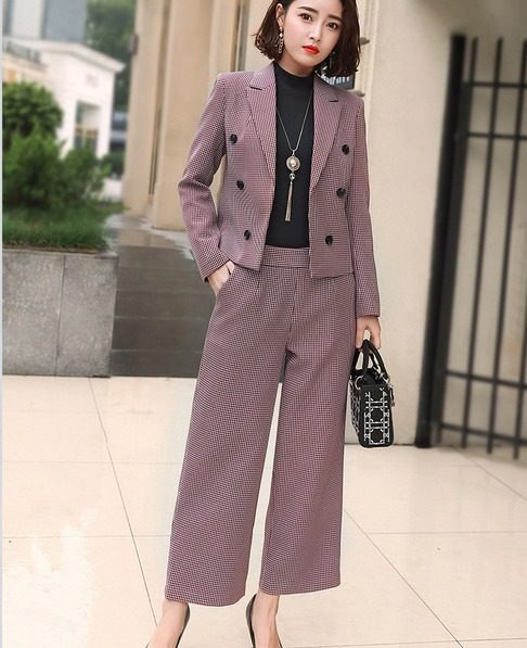 47dad36b76 Trajes Dama Elegante Sensual Blazer + Pantalón Campana Moda - U S ...