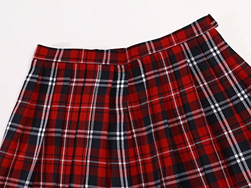 trajes de anime japoneses del a-line de la falda escocesa de