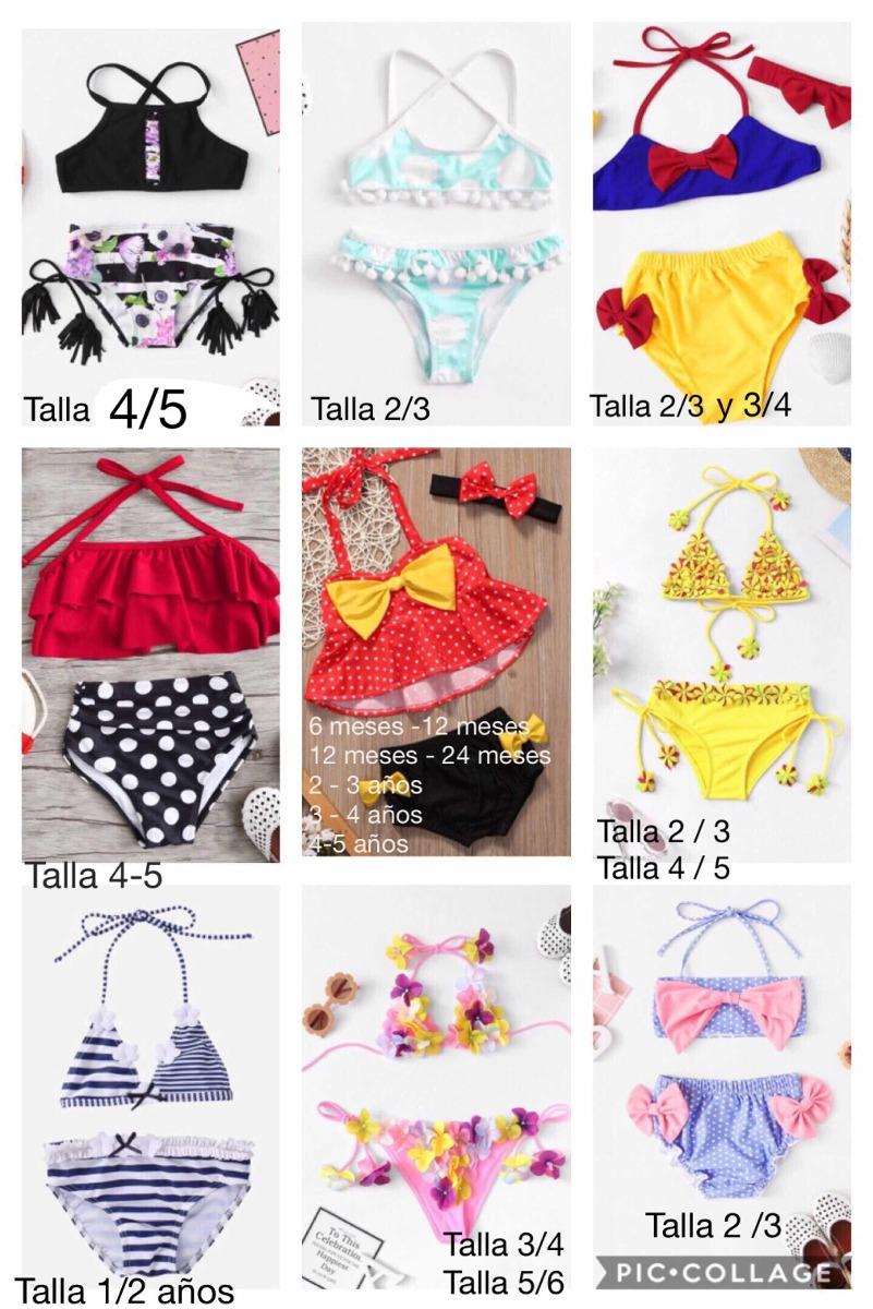 dd448d10728b Trajes De Baño / Bikini / Bañador Para Bebés Y Niñas - $ 390.00 en ...