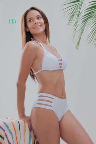 trajes de baño bikini corte alto elisa