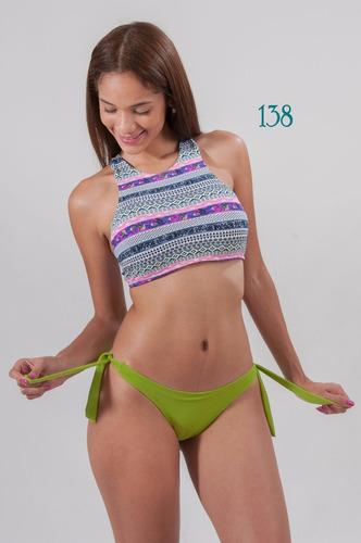 trajes de baño bikinis crop top parchos parches elisa
