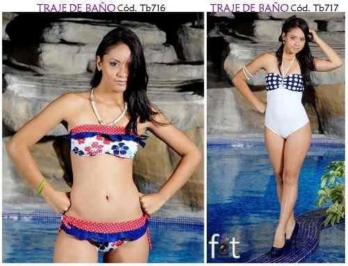 trajes de baño bikinis, trikinis, enteros