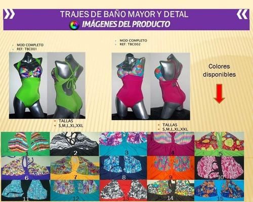 trajes de baño dama lycra importada mayor/detal por tallas