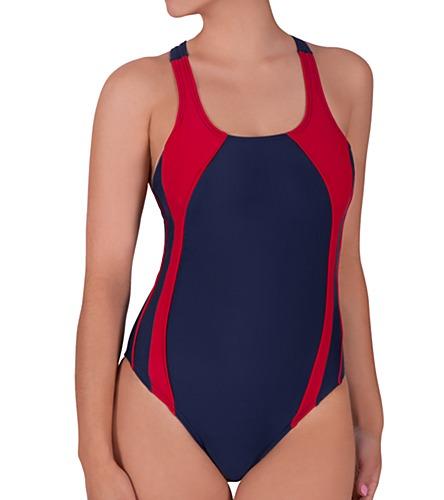 Trajes de ba o entero de nataci n de ni a marca brisas - Trajes de bano natacion ...